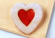 Heart shaped shortbread cookie