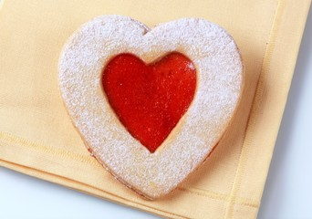 Heart shaped shortbread cookie