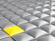 smooth grey and yellow metallic cubes