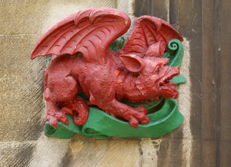 Painted Welsh dragon