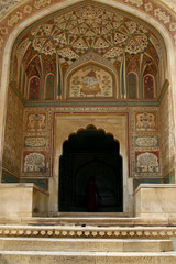 An entrance to a temple in Amber Fort complex, India
