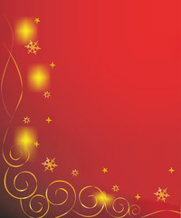 red and gold christmas background