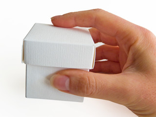 Hand that holds a box