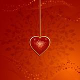 valentine heart pendant poster