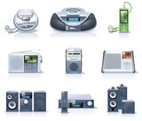 Vector household appliances icons. Part 8