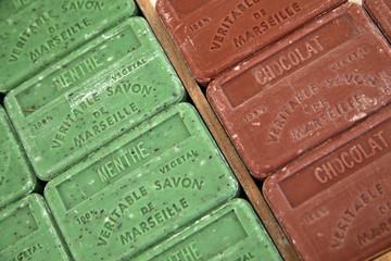 Savon de Marseille : Menthe et Chocolat