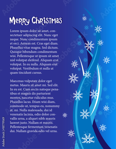 Holidays poster for Christmas. Design template card.