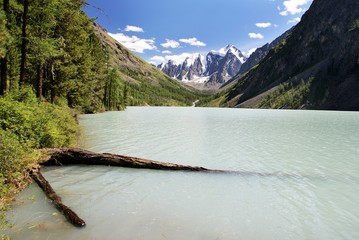 Lake in Altai mountains