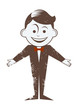 cartoon retro junge lustig figur