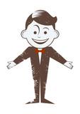 cartoon retro junge lustig figur