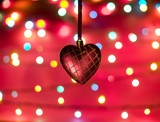 Defocused picture with heart poster