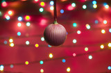 Defocused picture with ball poster