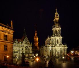Dresden Hofkirche Nacht - Dresden Catholic Court Church night 05