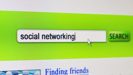 Social networking - fictional search engine