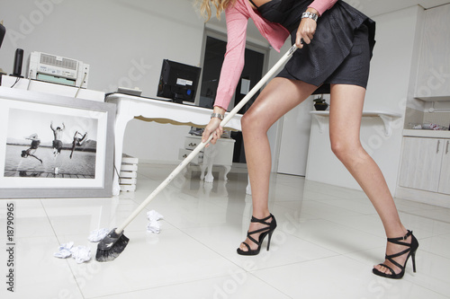 Cleaning office