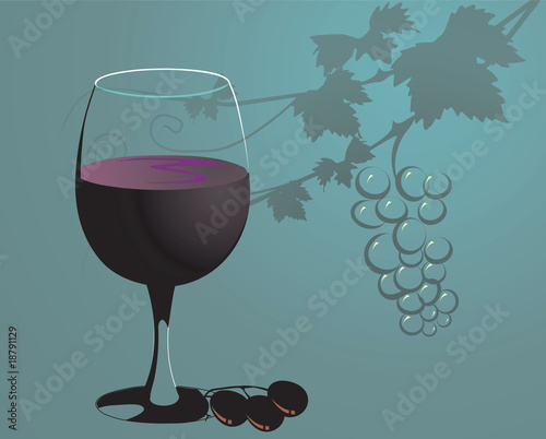 Grape and glass