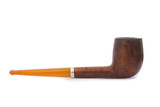 Antique Smoking Pipe on White