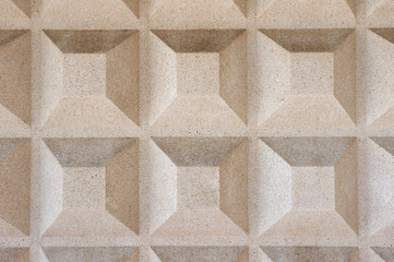 Truncated pyramid concrete texture