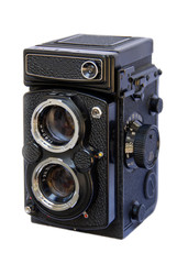 Twin Lens Reflex Camera on White