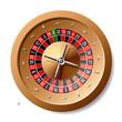 Roulette wheel. Vector illustration.