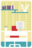Cozy home office poster