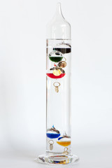 Isolated Galileo Thermometer Multi-Color Glass