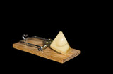 Cheese on mousetrap