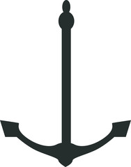 Illustration of an anchor isolated in white