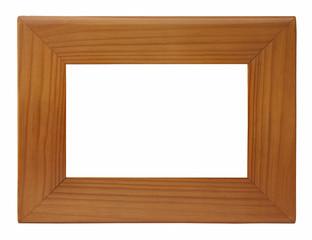 marco de madera moderno aislado