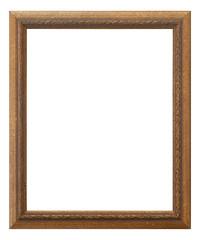 marco de madera dorado aislado