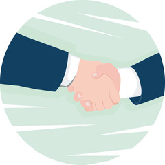 Illustration of hand shaking
