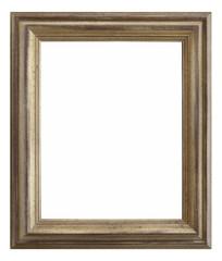 marco de madera plateado aislado