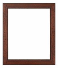 marco de madera rústico aislado