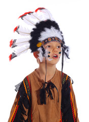 Portrait of a native american boy
