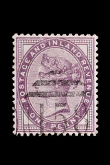 Victoria 'penny lilac' postage stamp from the late 1800's