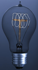 Lightbulb with spiral filament