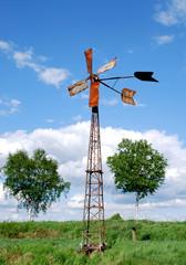 Windrad in Landschaft