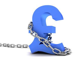 Pound symbol in chains