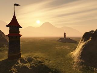 Die zwei Türme des Königs im Märchenland