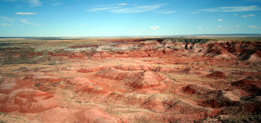 An Aerial View of the Painted Desert, Arizona