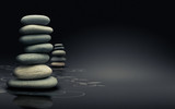 méditation et relaxation - design naturel moderne - fond noir