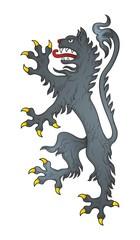 Heraldic wolf vector