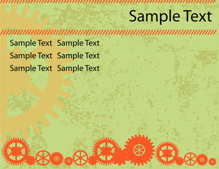 Abstract vector technical background, grunge presentation templa