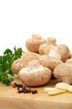 Mushrooms preparation poster