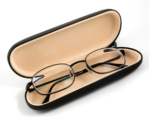 reading glasses in a case