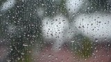 raindrops on the window at daytime poster