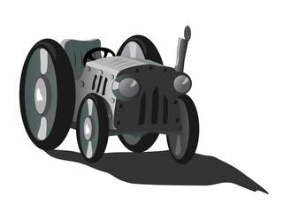 Greyscale tractor