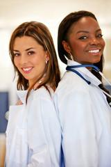 Doctors at a hospital