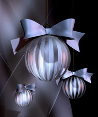 christmas bauble decoration glas