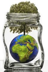 barattolo di vetro ecologico